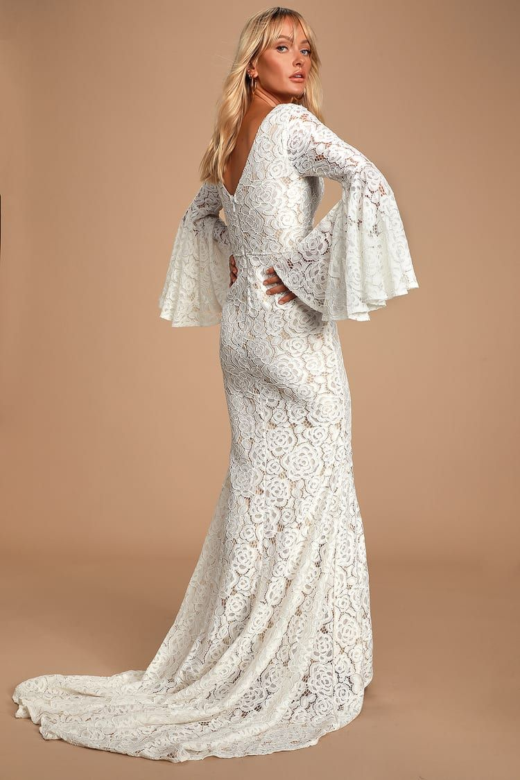 Duchess Ivory Lace Bell Sleeve Maxi Dress Maxi Dress With Sleeves Long Sleeve Bridal Dresses Long Sleeve Maxi Dress [ 1125 x 750 Pixel ]