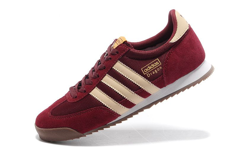 Großhandel Adidas Herren Schuhe - Adidas Drache Retro Laufschuhe Burgund