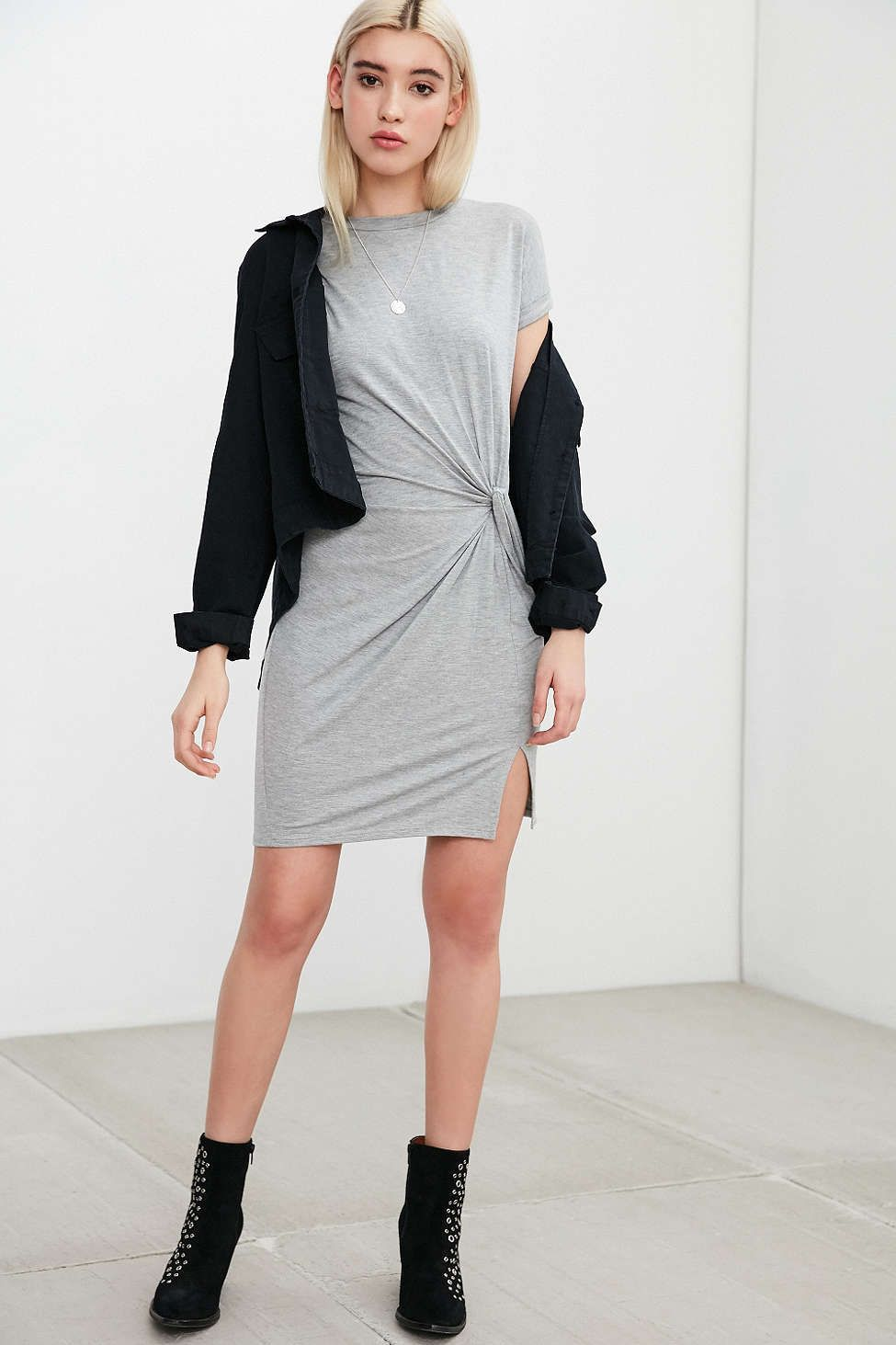 6b1190036eb Silence + Noise Side Knot T-Shirt Dress - Urban Outfitters