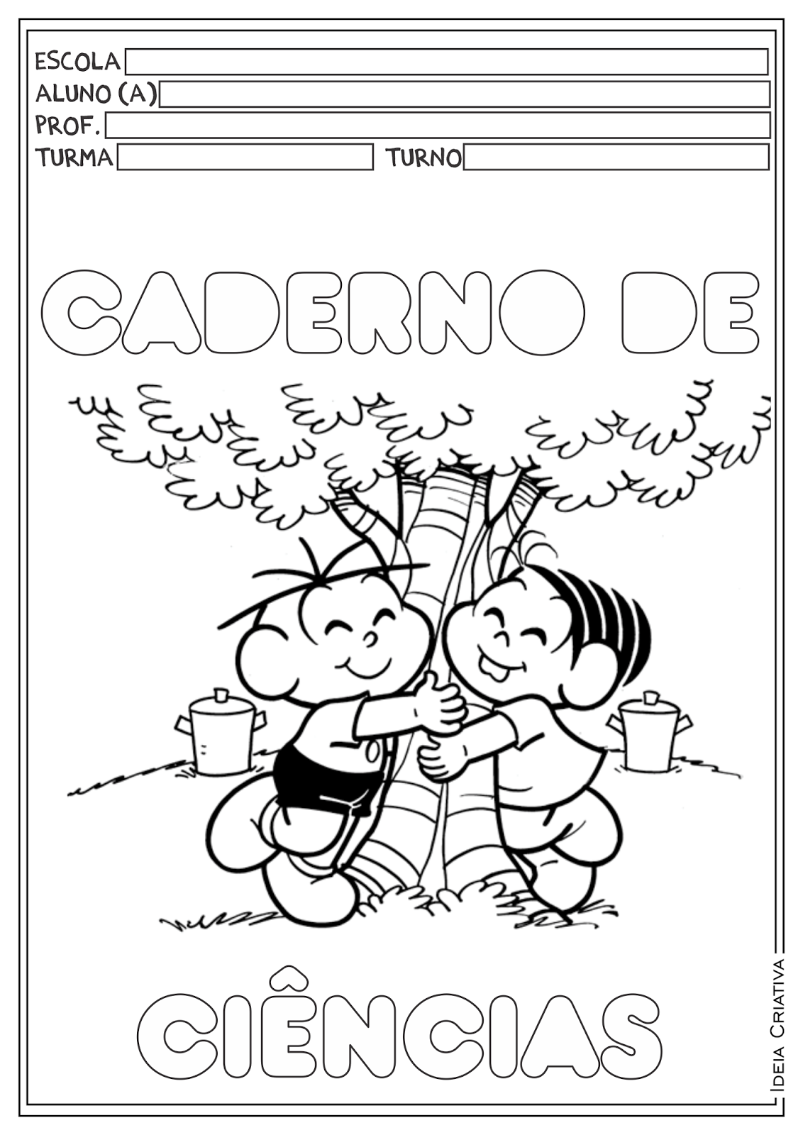 Capas Para Cadernos Turma Da Monica Capa De Caderno Cadernos De