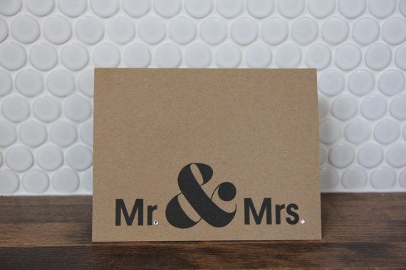 10 Pack Kraft Paper Mr Mrs Thank You Note With Clear Gems Kraft Paper Paper Kraft