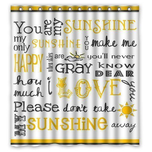 Custom You Are My Sunshine Waterproof Fabric Bathroom Shower