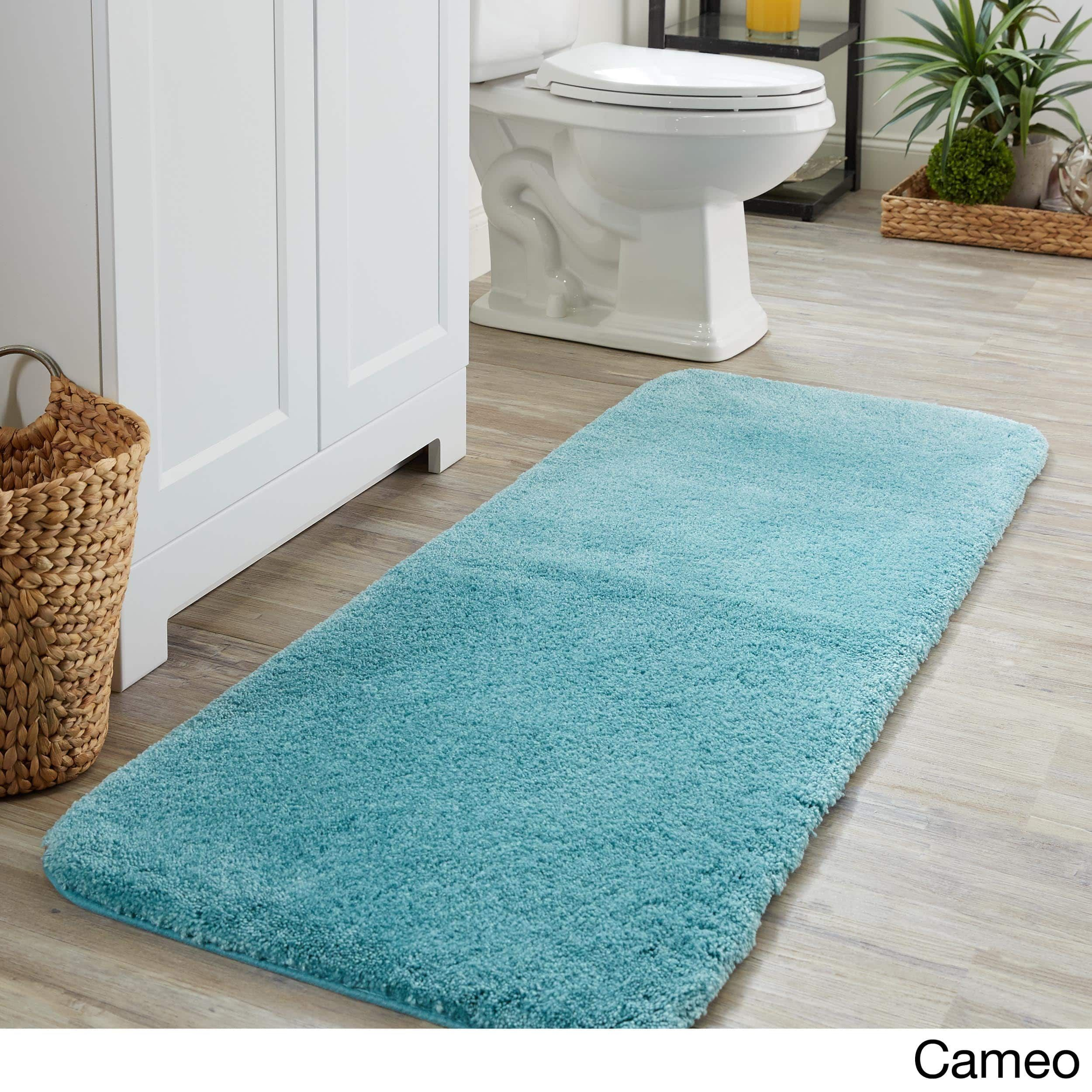 Mohawk Home Spa Bath Rug (2\'x5\') (Cameo), Blue wash | Spa baths ...