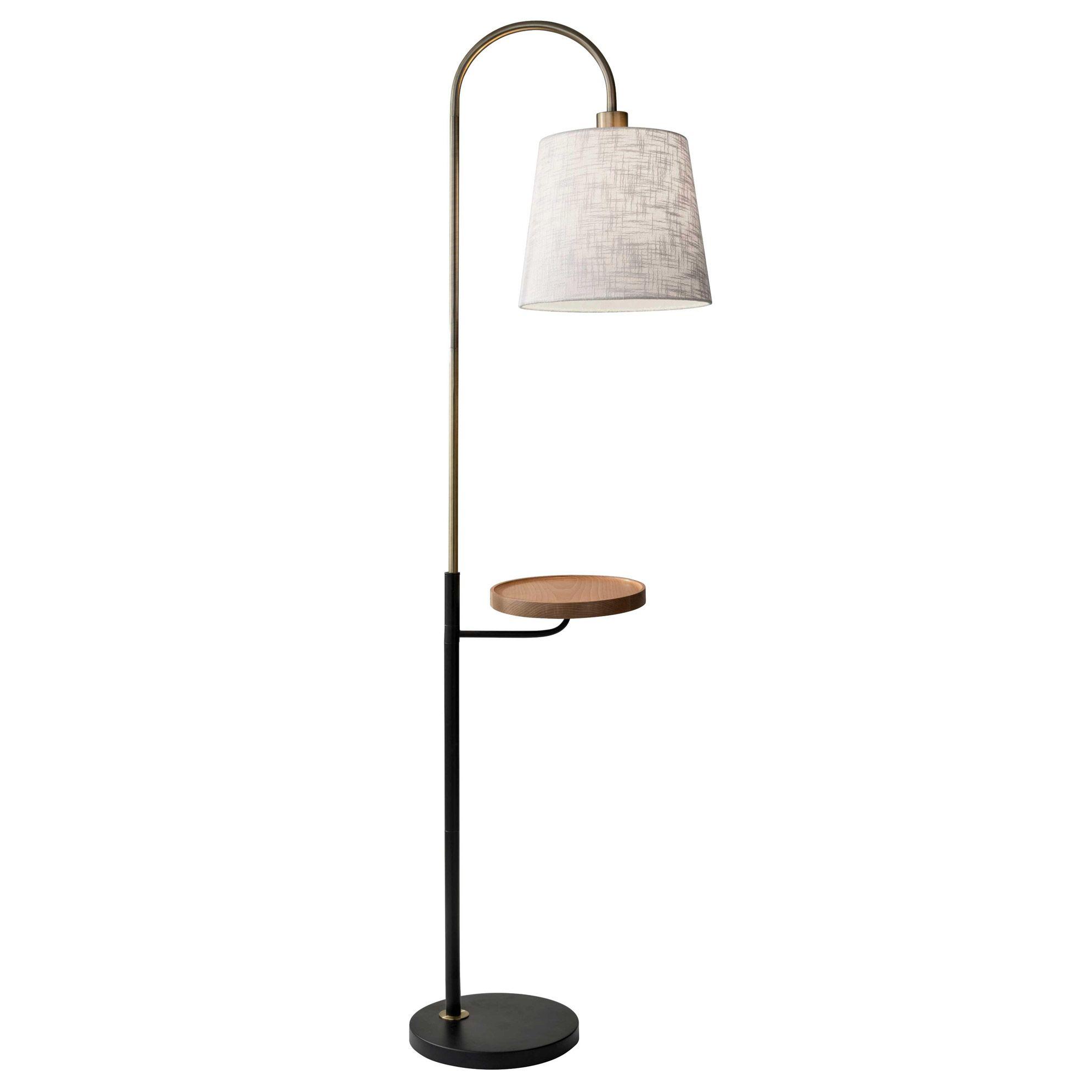 Jeffrey Shelf Floor Lamp By Adesso Corp 3408 21 Floor Lamp With Shelves Natural Floor Lamps Floor Lamp