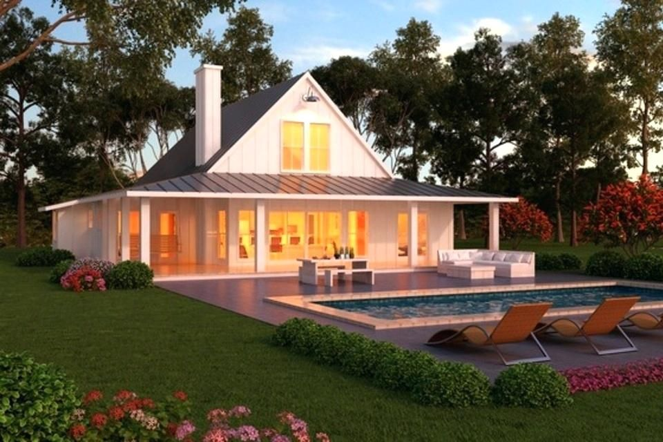 One Story House With Wrap Around Porch One Story House Plans With