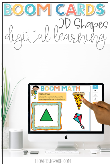 Boom Learning 2D Shapes Distance Learning Math centers