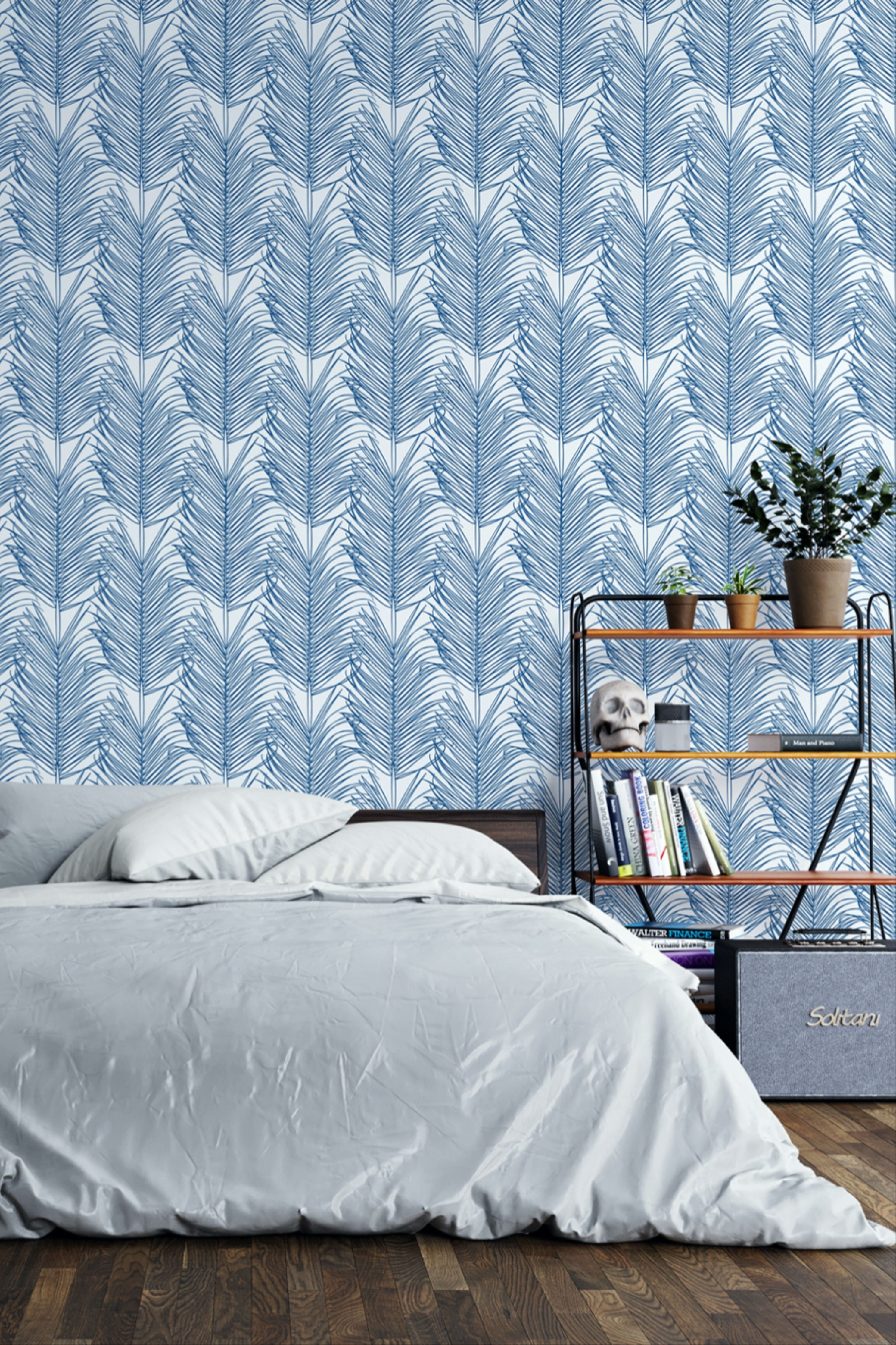 Coastal Blue Wallpaper Peel And Stick Beach Self Adhesive Etsy Blue Wallpaper Bedroom Coastal Blue Blue Wallpapers