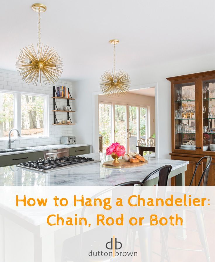 How To Hang A Chandelier Chain Rod Or Both