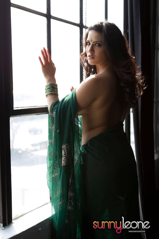 sunny leone, brunette, strip, nude, sari, busty, window | the one