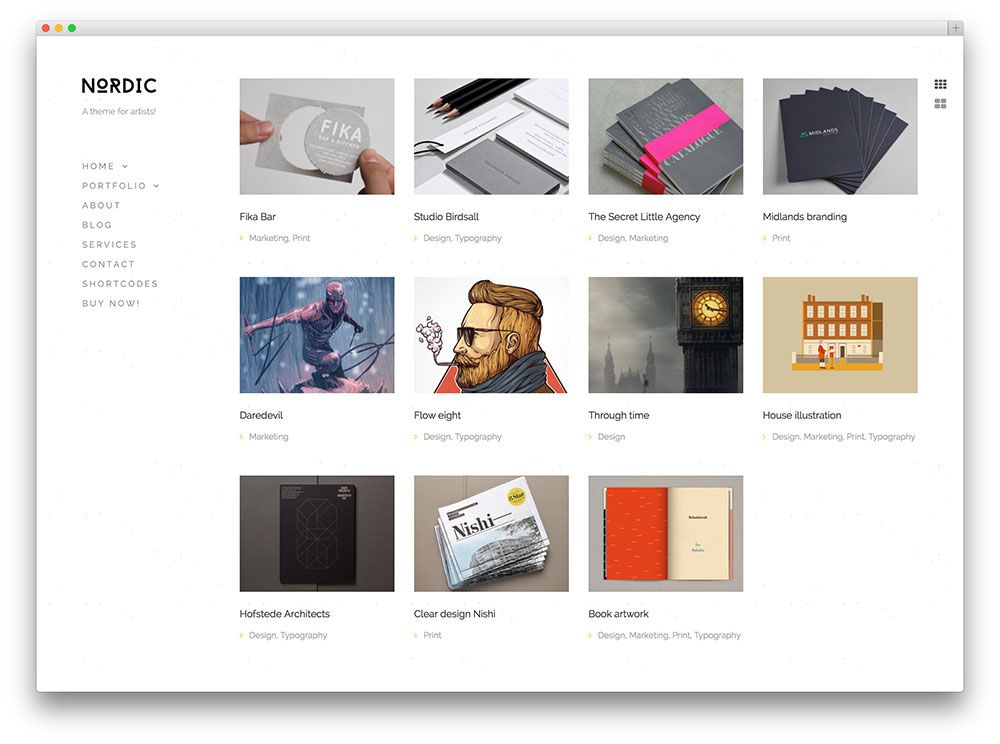 nordic clean WordPress portfolio | Wordpress Themes | Pinterest