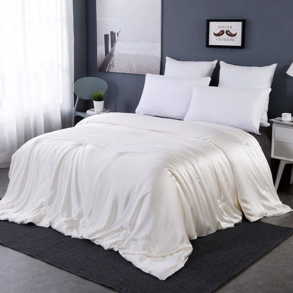 All Season Silk Covered Silk Comforter Bed Linens Luxury Silk