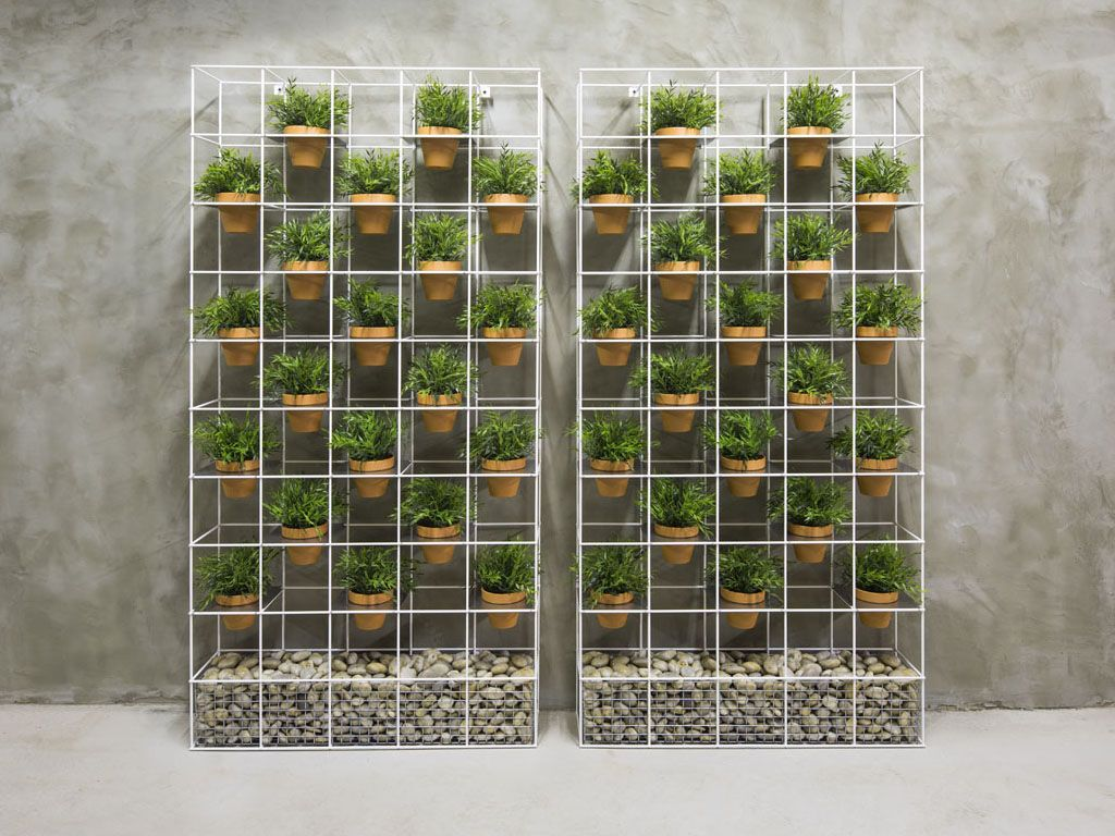 Our lanna garden screen is made from galvanized steel with for Vertical garden privacy screen