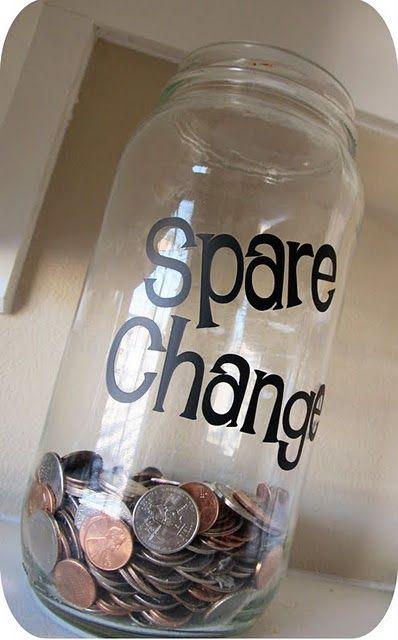 Lovely Little Snippets Spare Change Jar Change Jar Crafts With Glass Jars Pickle Jar Crafts