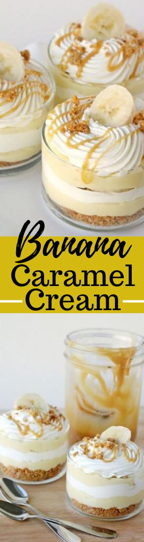 Banana Caramel Cream #Dessert #creamy