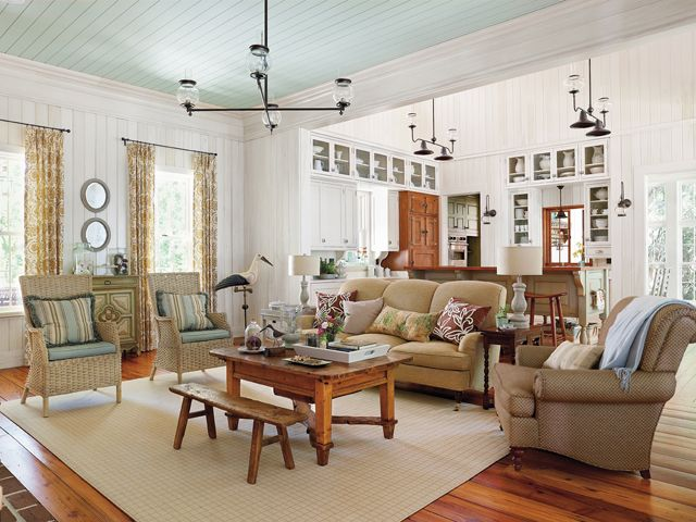 Sl Vintage Low Country Plan  Living Room Looking Toward Front Of Awesome House With No Dining Room Inspiration