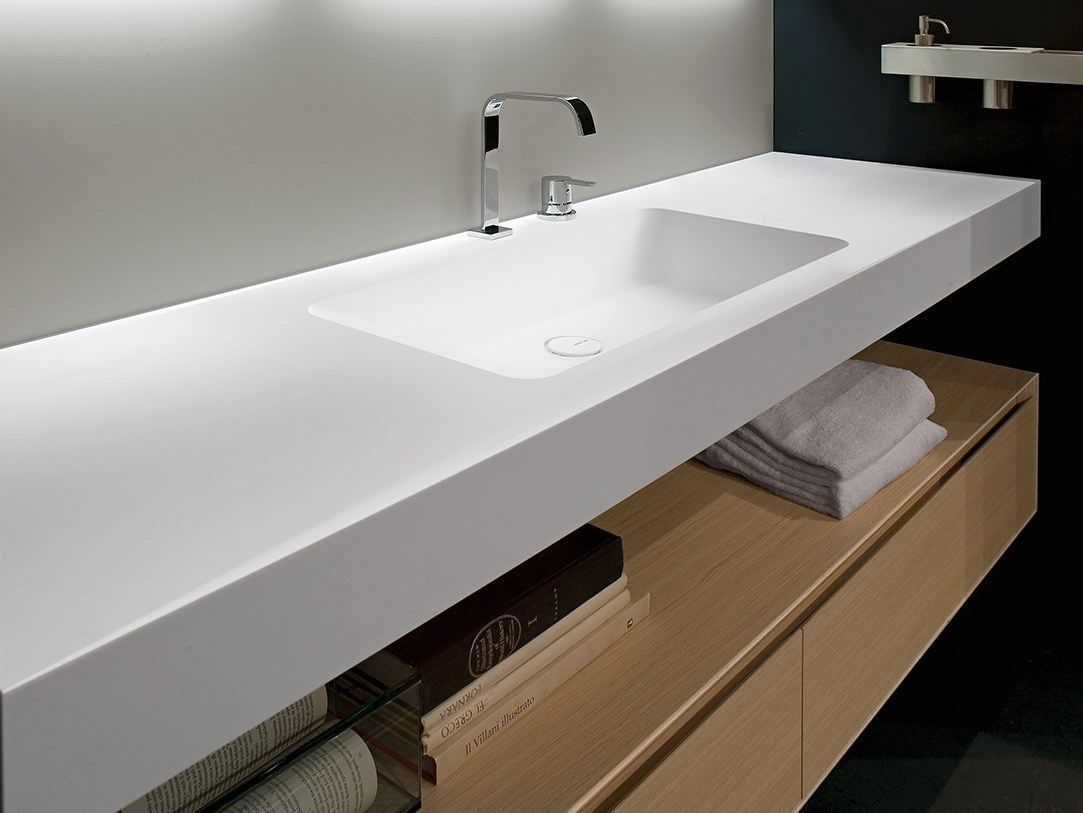 Corian® washbasin countertop ARCO by Antonio Lupi Design ...