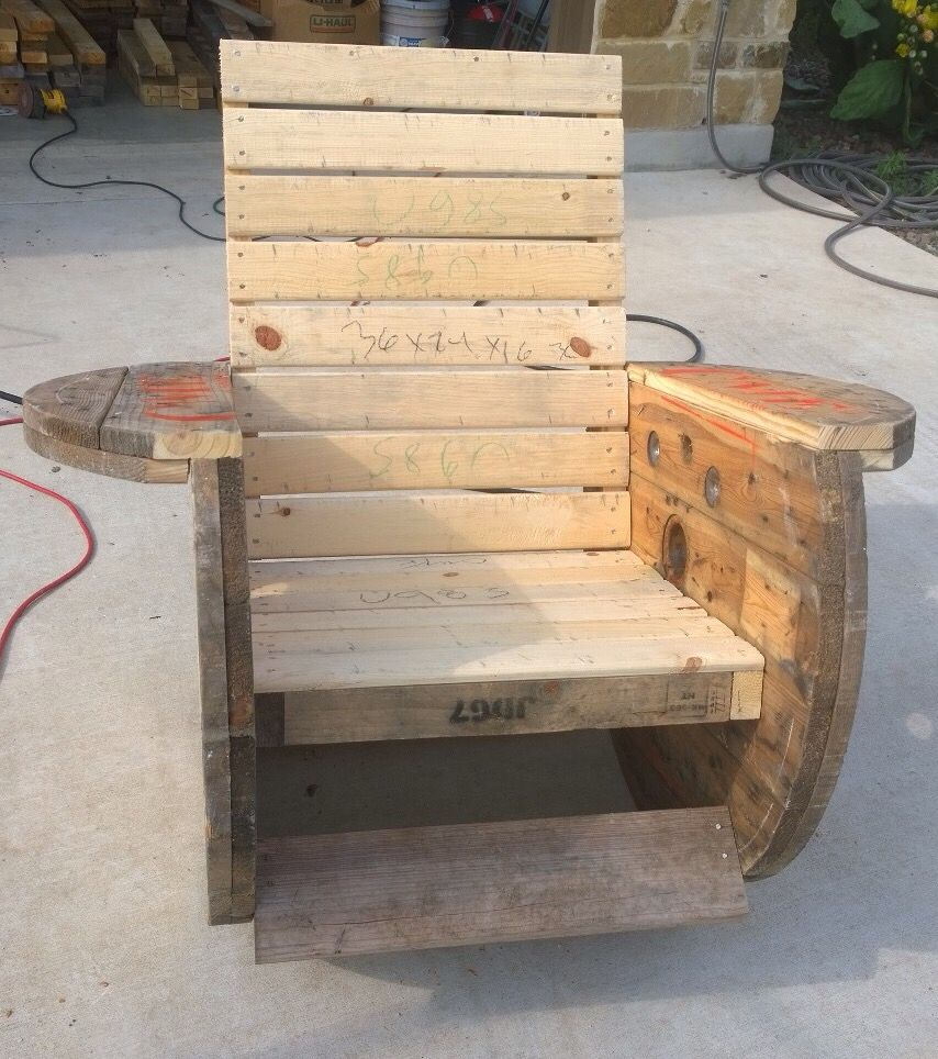 Schaukelstuhl Selber Bauen Rocking Chair I Made From Cable Reels Wooden Spool Idea