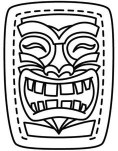 image relating to Tiki Mask Printable named Tiki Mask Template Printable tiki masks Tiki bash, Tiki