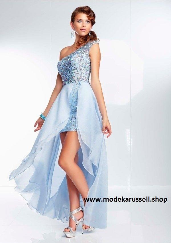 Kleid vorne kurz hinten lang blau