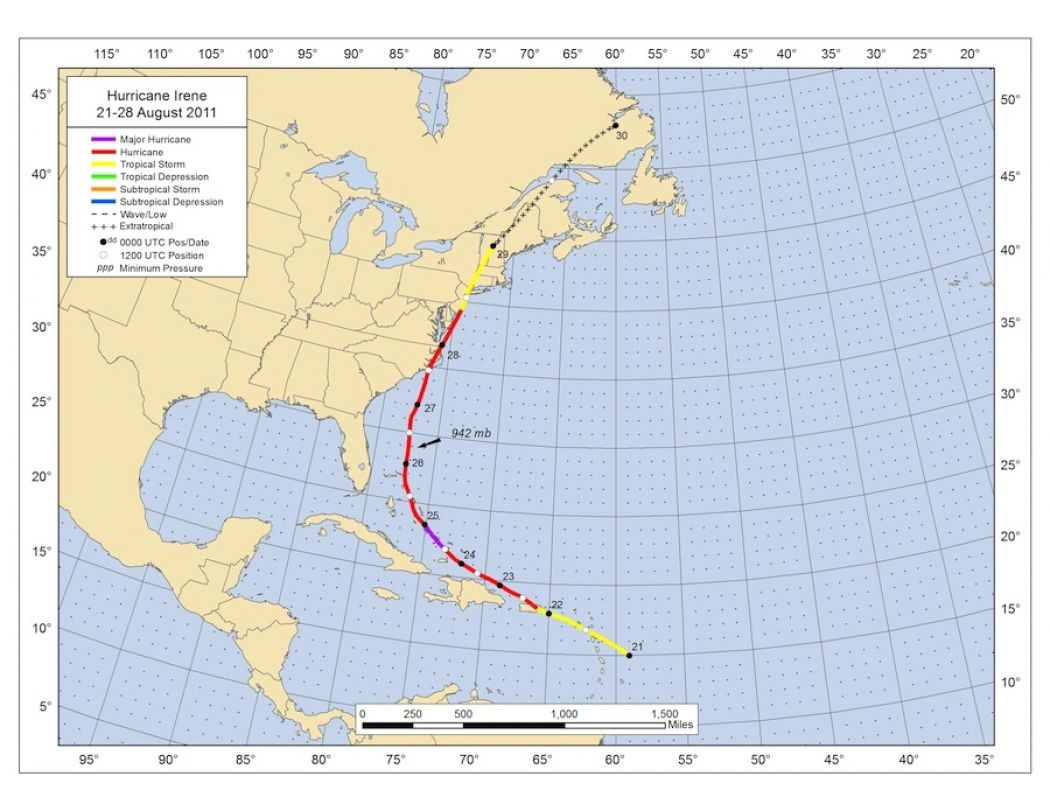 Hurricane Irene Ranked Most Costly Category 1 Storm Climate Central Hurricane Irene Storm Hurricane