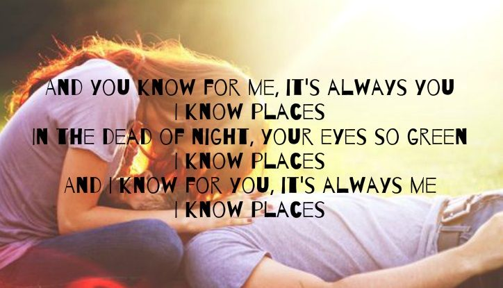 Taylor Swift - I Know Places | Taylor swift songs, Country lyrics, Music quotes