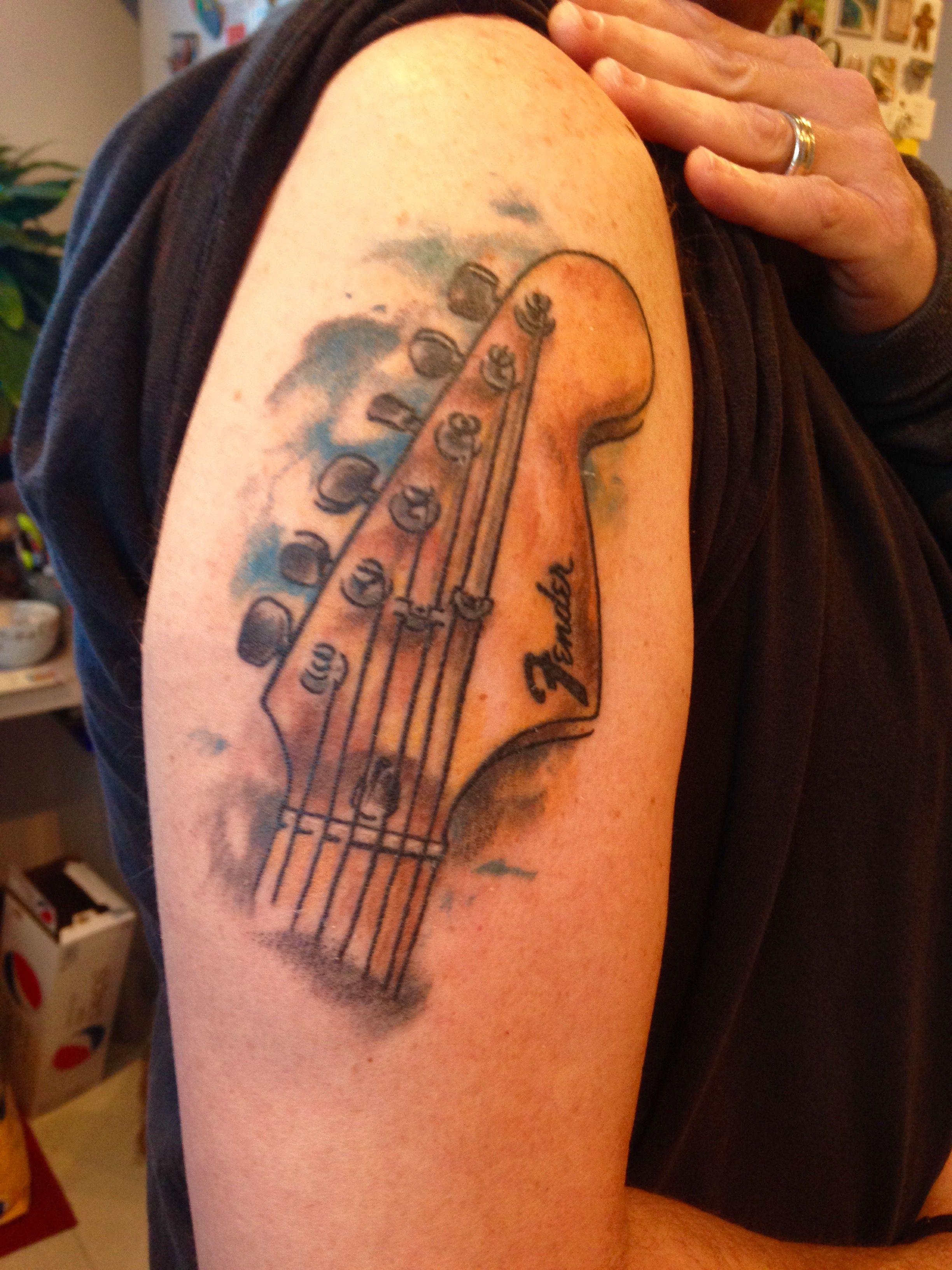 Fender Stratocaster headstock. | Tattoos | Pinterest ...