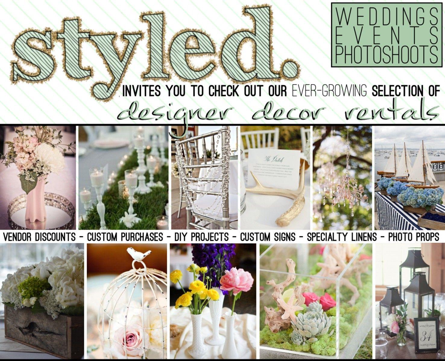 Styled Wedding Decoration Rentals Some Amazing And Original Stuff Wedding Decorations Event Invitation Wedding Events