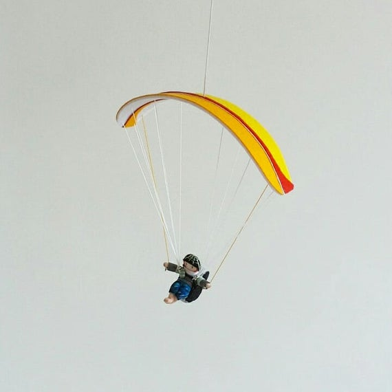 Paraglider PG, Felt miniature, Small model, Mini Paraglider, gift