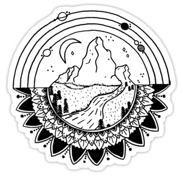 Dessin montagne mandala also buy this artwork on stickers apparel phone stickers en 2019 - Mandalas cycle 3 ...