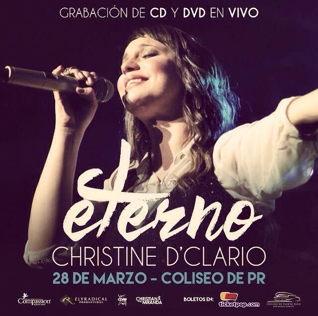 Christine D'Clario: Eterno #sondeaquipr #christinedclairo #eterno #coliseopr #choliseo #hatorey #sanjuan