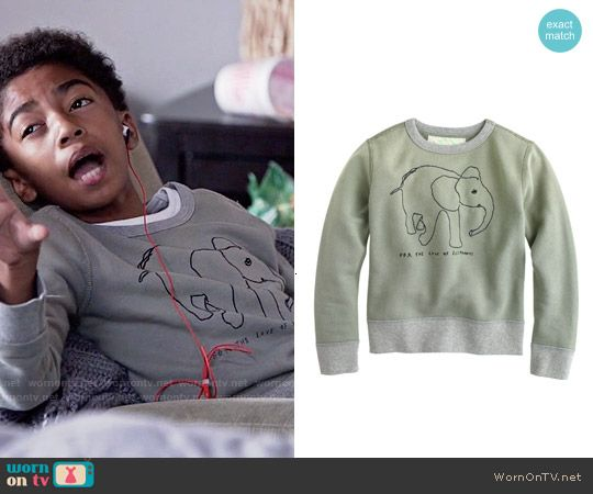 bbbcd40ebb Jack s elephant sweater on Black-ish. Outfit Details  http   wornontv