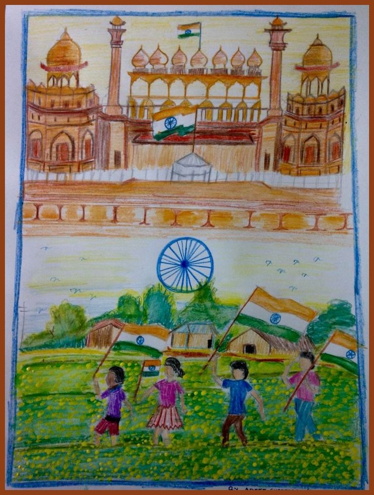 Best Happy Independence Day 15 August 2018 Hd Images Wallpapers Whatsapp Dp Etc Independence Day Drawing India Independence Independence Day India