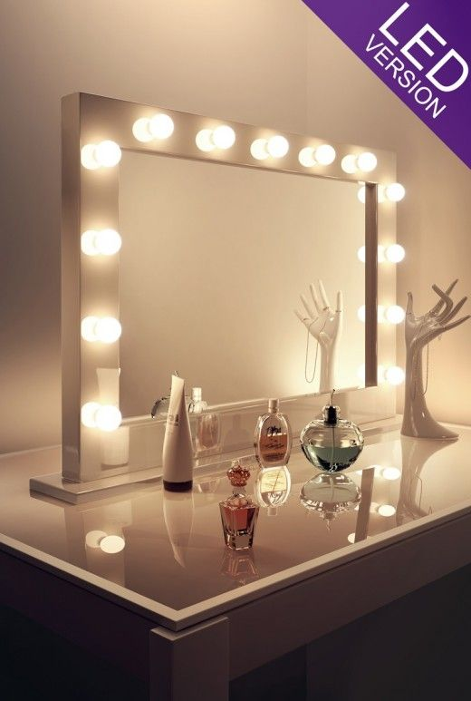 Led Makeup Mirrors Hollywood Style Theatre Bulbs