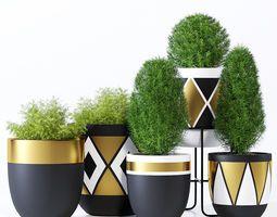 Design Twins royal   3D model – Paint garden pots