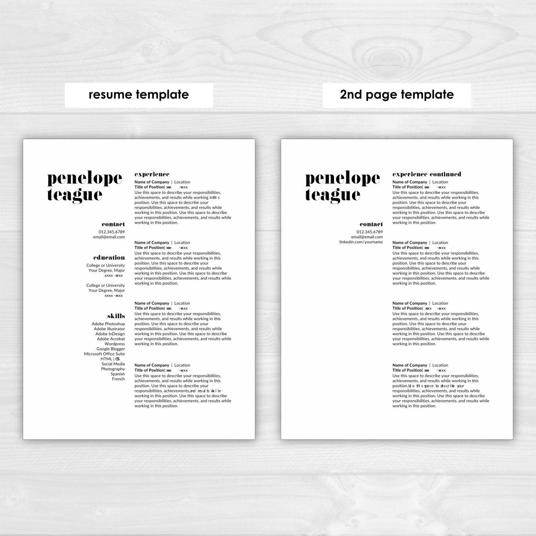 Modern Resume Template CV Template Cover Par ResumeTemplateStudio