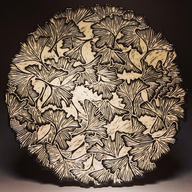 Beautiful sgrafitto plate