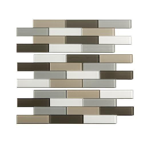 "12 X 12 Decorative Tiles Entrancing Aspect 12"" X 4"" Matted Subway Glass Peel & Stick Backsplash Tiles 2018"