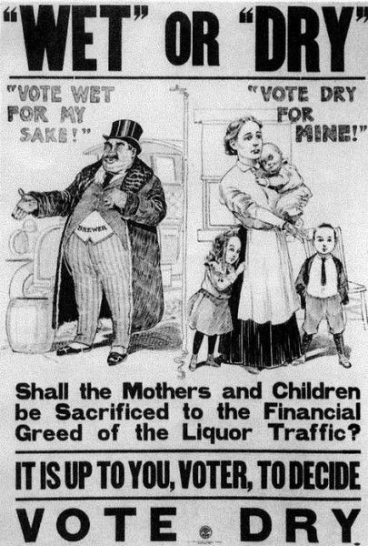 Poster advocating for prohibition in the early 1900s | Social ...