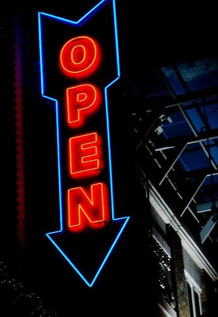 Open Neon Neon Sign Art Neon Signs Neon