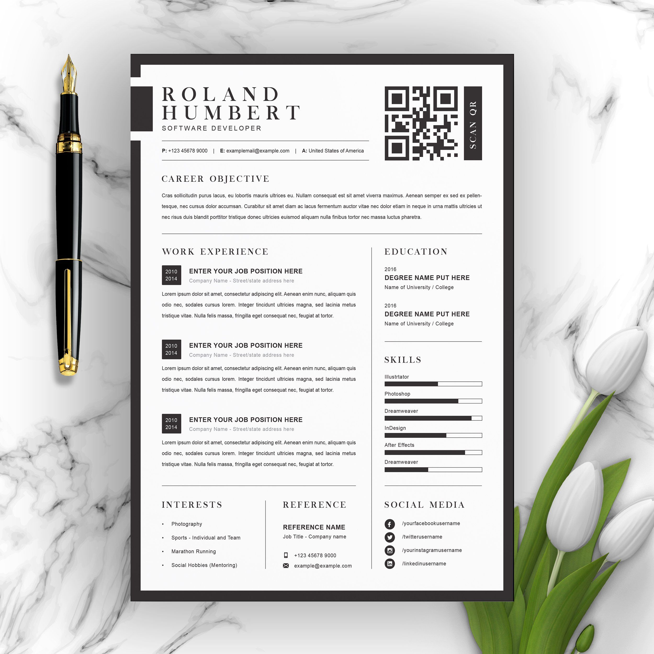 Minimal Word Resume and Cover Letter by ResumeInventor on ...