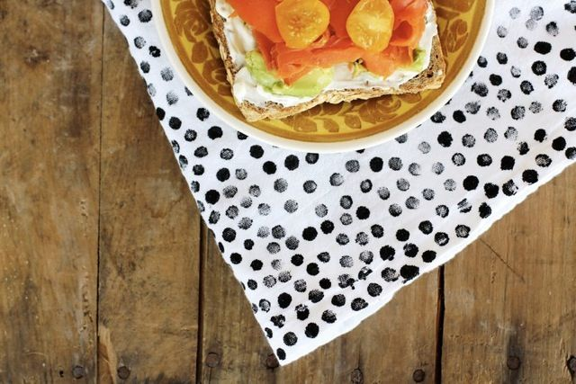 In love with this DIY from A Beautiful Mess.http://abeautifulmess.typepad.com/my_weblog/2012/03/easy-messy-handprinted-polka-dots.html