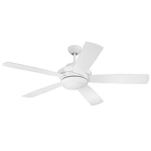 Tempo White 52 Inch Led Ceiling Fan With Five Blades Ceiling Fan
