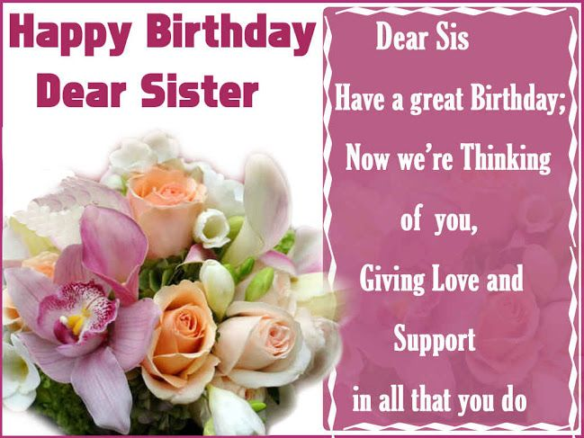 Happy Birthday Wishes for Sister SayingImages – Birthday Greeting for Sister