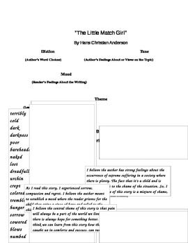 the little match girl story theme