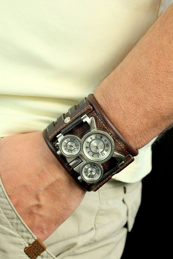 Mens wrist watches leather bracelet Tuareg 7 Handmade