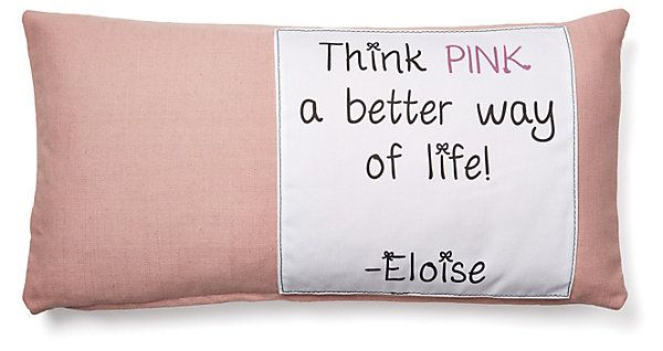 """One Kings Lane - The Soft Stuff - """"Think Pink"""" 12x24 Cotton Pillow, Pink"""