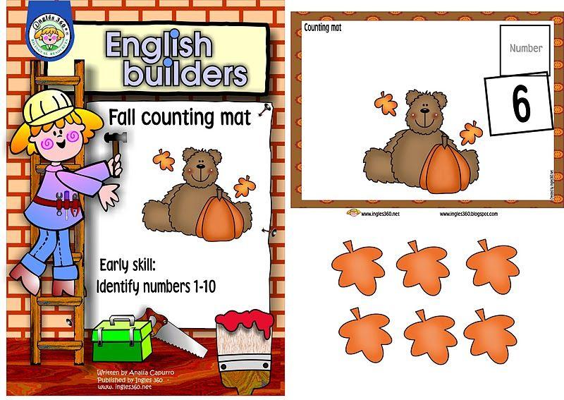 Classroom Freebies: Fall counting mat