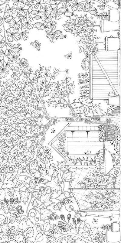 ausmalbild Interessante Landschaft | Malvorlagen | Pinterest ...