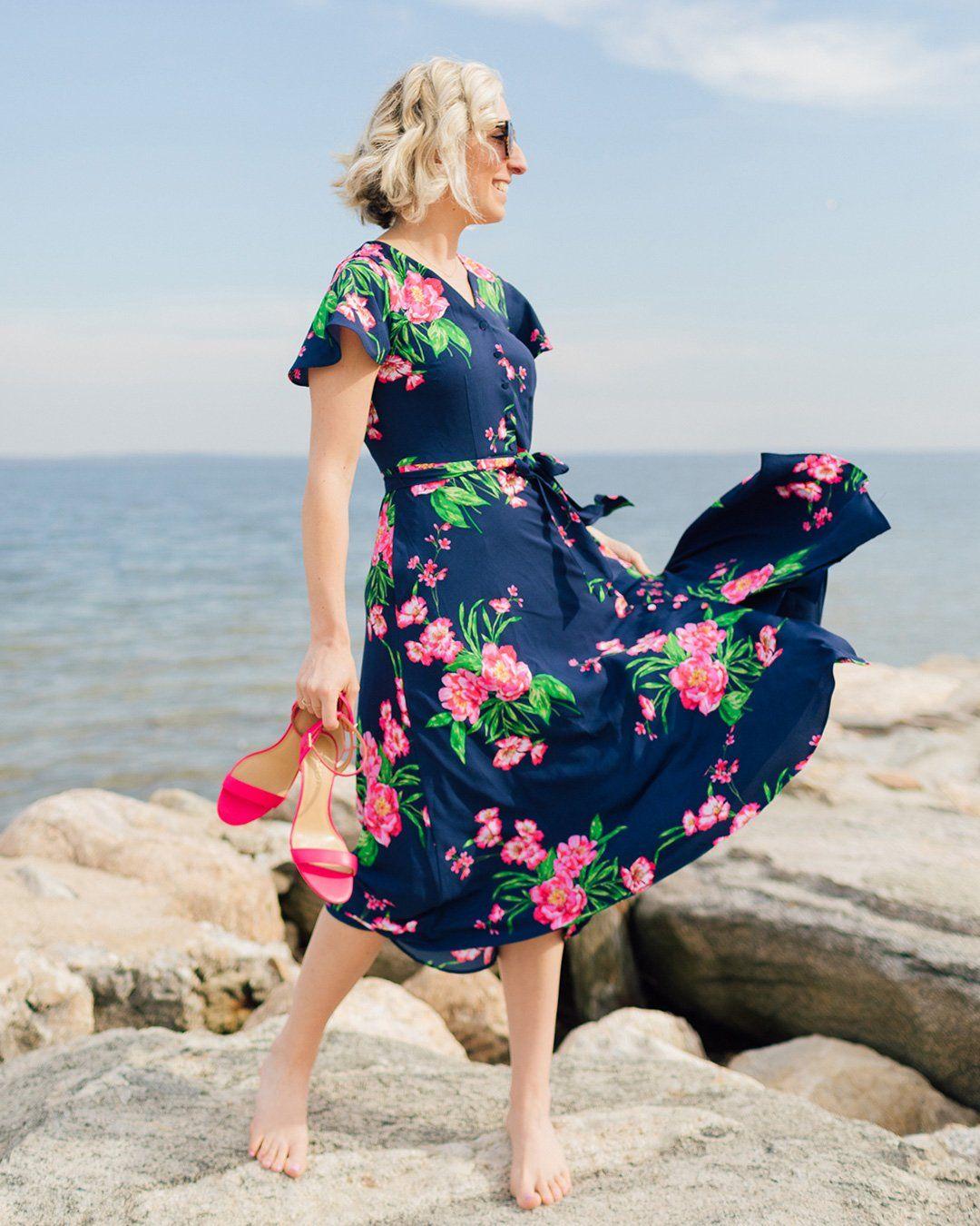 Lemon Stripes X Talbots Talbots Dress Jersey Knit Dress Dresses [ 1350 x 1080 Pixel ]
