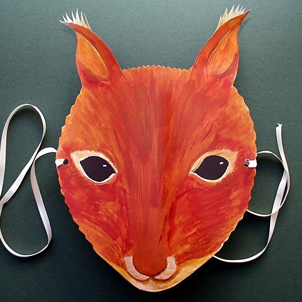 Squirrel mask wind in the willow costumes cureuil - Masque ecureuil ...